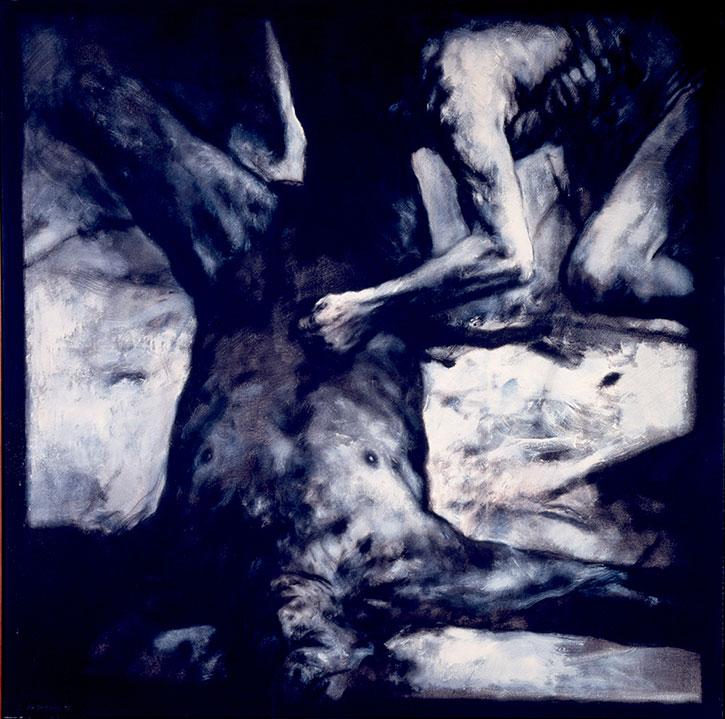 Luis Caballero, Sin Título, 1991 - Óleo sobre tela - 193 X 192 cm